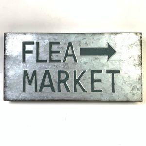 Flea market galvanized metal sign farm house decor